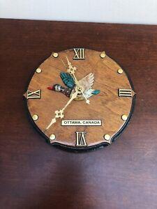 Vintage Canadian Wooden Wall Clock Ottawa Canada