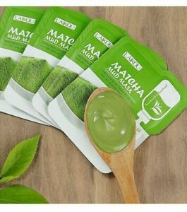 Matcha Green Clay Mud Face Mask Anti wrinkle Night Facial Packs Moisturize Aging