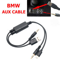 12 Pin AUX Audio Cable With Resistance For BMW E60 E61 E81 E91 Adapter Cable
