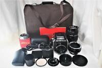 """NEAR MINT"" Zenza Bronica EC w/Case,Prism Finder,P75mm F2.8 & Q250mm F4,etc. KIT"