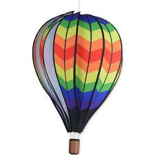 "Double Chevron Rainbow Hanging 22"" Hot Air Balloon Spinner..23...... PR 25749"