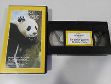 LOS PANDAS GIGANTES EL ULTIMO REFUGIO - VHS TAPE CINTA NATIONAL GEOGRAPHIC VIDEO