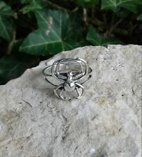 Black Widow Ring, Sterling Silver Spider Ring, Spider Jewelry, Halloween Jewelry