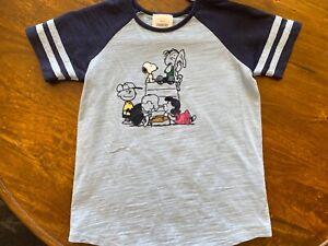 hanna andersson 120 boys light blue/navy snoopy T-Shirt