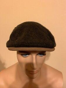 Polo Ralph Lauren Hat Wool Blend Driver Cap Small / Medium  Olive / Brown