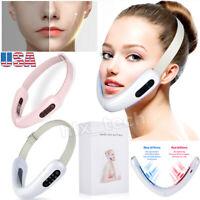 Electric V-Face Slimming Red Blue Light Vibration Massager Skin Lifting Machine