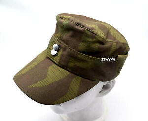 Replica WWII WW2 German Army Splinter Camo Cap Hat Mlitary Reenactments 002 58cm