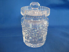 "Waterford Crystal Giftware Jelly Jam Jar Honey Pot w/ Lid 4 3/4"" Tall"