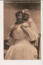 Vintage Postcard Archduchess Louise of Austria Crown Princess of Saxony & Child