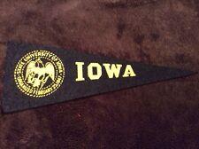 Iowa Mini Pennant Felt Vintage 1950's College NCAA University