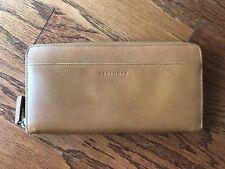 Levenger Leather Zip Around Organizer Travel Wallet Checkbook