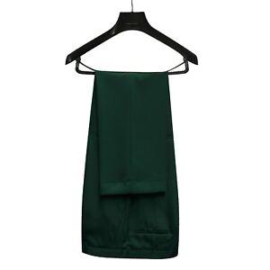 New Ambassador Men's Emerald Green Microfibre Coloured Trousers