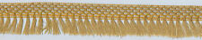 27 Yards Gold Wide Metallic Gimp Trim with Gold Metallic Fringe   J-103