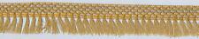 27 Yards Gold Wide Metallic Gimp Trim with Gold Metallic Fringe   J-103