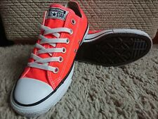 CONVERSE All STAR LOW MENS & WOMENS CANVAS CHUCK TAYLOR TRAINERS SHOES ORANGE