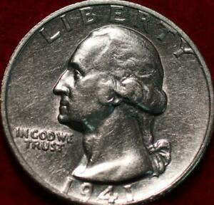 Uncirculated 1941-S San Francisco Mint Silver Washington Quarter