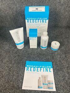 * Rodan + Fields * Redefine Regimen Lines, Pores, Firmness 4pc Set Kit (SEALED)