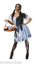 Zombie Dorothy FREE TIGHTS Country Girl Ladies Halloween Fancy Dress Small