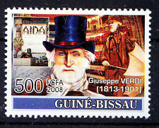Guine Bi. 2008 MNH, Giuseppe Verdi, Music, Italian Romantic composer  -NL4