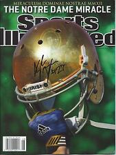 Notre Dame Fighting Irish KYLE BRINDZA Signed Sports Illustrated