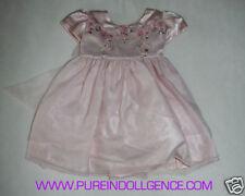 Toddler Pink Polyester dress 6-12months (Handmade)