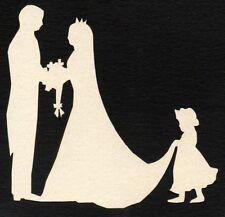 Die Cut Wedding Topper BRIDE, GROOM, & BRIDESMAID Pearl Ivory x 8 Wedding, Cards