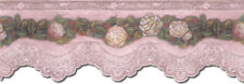 VICTORIAN ROSE & LACE Wallpaper Border VIN7320DB