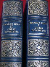RECARDO LEON ~ OBRAS COMPLETAS ~ 1952 / VOL. I & II / MADRID