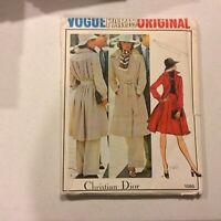 Christian Dior VOGUE PARIS ORIGINAL #1095 UNCUT Size 14 Coat Pants Skirt 1970's