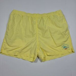 Tommy Bahama Yellow Swim Shorts - Fish Net - Relax - Nylon - XL