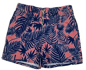 Old Navy Mens Swim Trunks Pockets Drawstring Blue/Pink NWT Size XXL