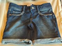 CRB GIRL girls jean denim shorts cuffed sz 8 MORE LISTED! BTS