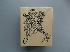 100 PROOF PRESS RUBBER STAMPS FAIRY BLOWING A KISS NEW STAMP