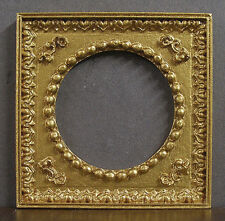 ROUND  EMPTY  PICTURE  FRAME  ~ Jim Coates ~ Dollhouse Miniature ~ 1:12 scale