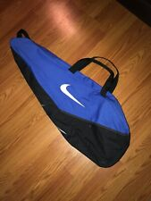 Nike Black & Blue Zipper Tennis Shoulder Bag Tote Silver Swoosh