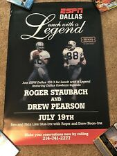 Roger Staubach Drew Pearson Hail Mary Lunch With A Legend Espn Promo Poster Rare