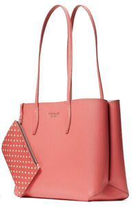 Kate Spade All Day Large Shoulder Tote Bag Leather Peach Melba Boutique Model