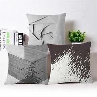 Decompression Linen Cotton Pillow Case Cushion Cover Throw  Home Sofa Decor
