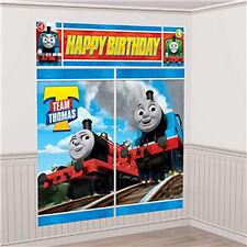 Thomas Train Tank Engine Boy Birthday Party Scene Setter Wall Decorating Kit 5pc