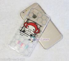 iPhone 6/6s plus Matte Baby Milo Monkey Transparent soft rubber thin case cover