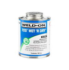 More details for 500ml weld on wet & dry 725 swimming pool pvc-u plastic pipe cement