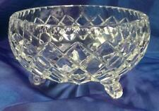 RETRO VINTAGE BOHEMIA 24% LEAD CRYSTAL SMALL FOOTED BOWL CZECH REPUBLIC