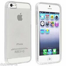 Iphone 5 SE 5s semi clear Transparent TPU soft Cases skins (400-100)