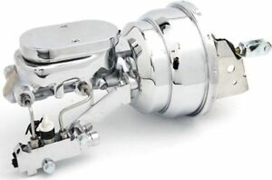 """58-64 Chevy Impala Chrome 8"""" Booster w/ Flat Top Master Cylinder And Prop Valve"""