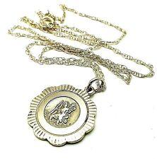 Vintage Signed Georg Jensen Sterling Silver St. Christopher Pendant Necklace