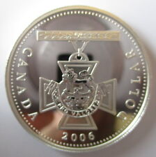 2006 CANADA VICTORIA CROSS PROOF 99.99% SILVER DOLLAR COIN