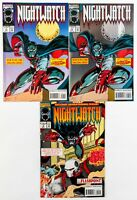 Nightwatch #1 & 2 + #1 Foil Cover (1994 Marvel) Life on the Edge, Spider-Man! NM