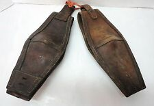 2 US Calvary WWI Horse / Mule Leather Blinders / Blindfolds