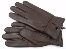 Women's Sheep Nappa Lamb Leather Winter Gloves Ladies Hand Gloves Brown New