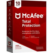 McAfee Total Protection 2020 10 DEVICE PC/MAC 1YEAR WORLDWIDE ANTIVIRUS $40Value